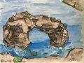 mirador-es-pontas;Aquarell;30x24;