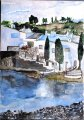 port_lligat;aquarell;24x30;